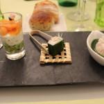 Pièces froides cocktail - Fleurs des champs, Ail des ours à l'asiatique et Lamium blanc Saveur fumé_Marcotullio